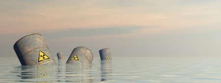 Toxic barrels - 3D render Banque d'images - 158462753