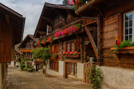 Brienz village, Berne canton, Switzerland Banque d'images - 158639015
