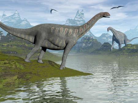Jobaria dinosaurs - 3D render