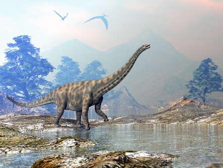 Spinophorosaurus dinosaur - 3D render