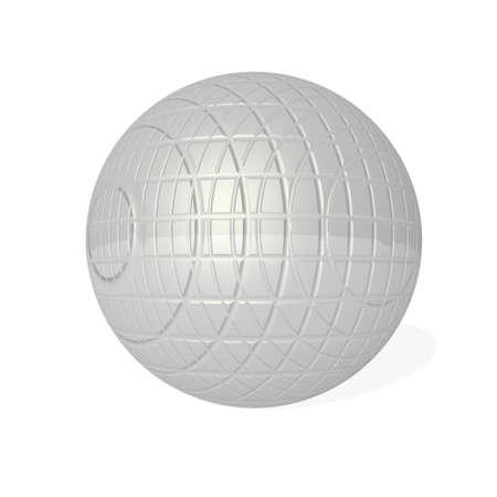 Chrome tiles sphere - 3D render Banque d'images - 159599696