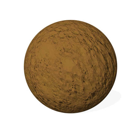 Brown chocolate mouss sphere - 3D render