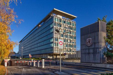 Geneva, Switzerland - December 07, 2020: World Health Organization, WHO - OMS, Headquarters