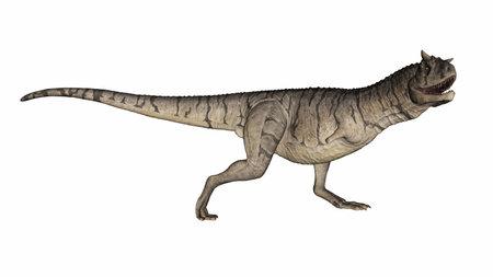 Carnotaurus dinosaur - 3D render Banque d'images