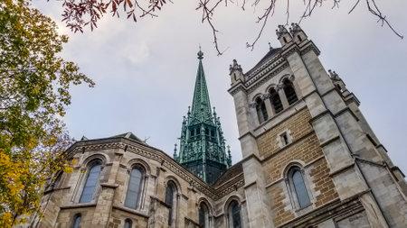 Saint-Pierre cathedral in Geneva, Switzerland, HDR