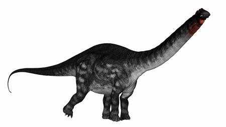 Apatosaurus dinosaurwalking - 3D render Banque d'images