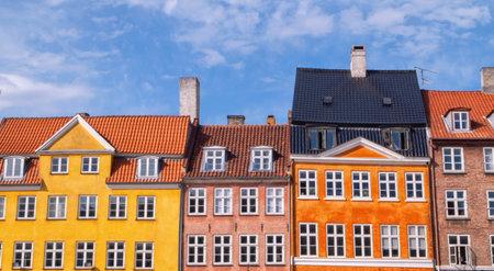 Colorful buildings of Nyhavn in Copenhagen, Denmark Standard-Bild