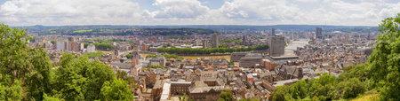 Panoramic view of Liege, Belgium Standard-Bild - 162447817