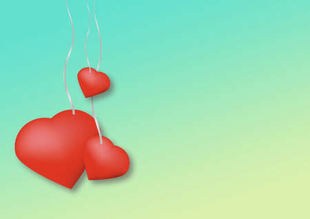Valentines Day card design template Standard-Bild