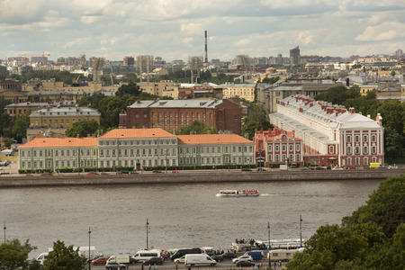 SAINT-PETERSBURG, RUSSIA. 3 JUNE 2016. Panorama of Saint Petersburg with St.Isaac cathedral.