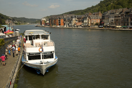 walloon: DINANT, BELGIUM, 15 AUGUST 2016. View of the River Meuse in the Belgian town of Dinant. Editorial