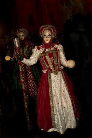 theatre masks: LUDWIGSBURG, GERMANY, 10 SEPTEMBER 2016. Venice Carnival in Ludwigsburg, Germany.