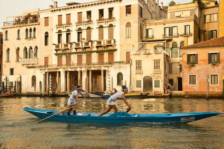 VENICE, ITALY, 4 SEPTEMBER 2016. Venice Historical Regatta (Regata Storica). Editorial