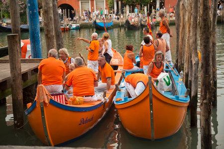 venice: VENICE, ITALY, 4 SEPTEMBER 2016. Venice Historical Regatta (Regata Storica). Editorial