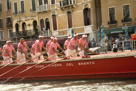 VENICE, ITALY , 4 SEPTEMBER 2016. Venice Historical Regatta (Regata Storica). Editorial