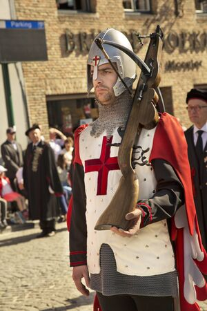 BRUGES (BRUGGE), BELGIUM. 5 MAY 2016. Procession of the Holy Blood.