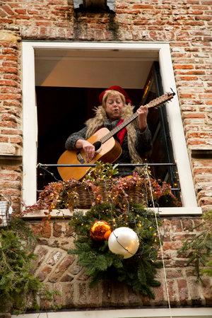 DEVENTER, NETHERLANDS, 17 DECEMBER 2016. Dickens festival in Deventer.