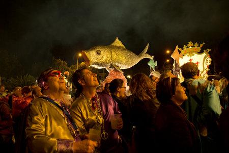 MURCIA, SPAIN,20 APRIL 2017. Feast of the funeral of sardines in Murcia (Entierro de la Sardina). Editorial