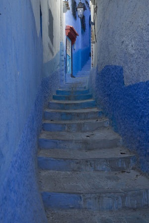 CHEFCHAOUEN, MOROCCO. 24 SEPTEMBER 2017. Medina in the blue town of Chefchaouen, Morocco.