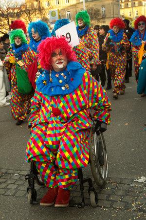 STUTTGART, GERMANY, 09 FEBRUARY 2018. Carnival parade in city center. Editorial