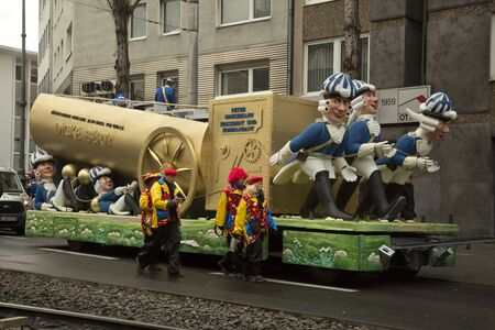 COLOGNE, GERMANY, 12 FEBRUARY 2018. The traditional carnival parade of carnival masks.
