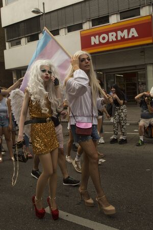 STUTTGART, GERMANY, 28 JULY 2018. Christopher Street Day in Stuttgart, Germany.