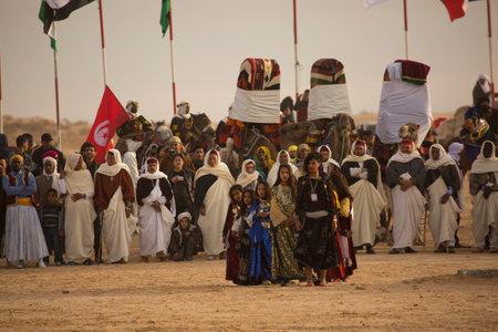 DOUZ,TUNISIA. 20 DECEMBER 2018.  Festival of the Sahara in Douz, Tunisia. 報道画像