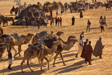 DOUZ,TUNISIA. 21 DECEMBER 2018.  Festival of the Sahara in Douz, Tunisia.