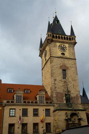 PRAGUE, CZECH REPUBLIC, 30 DECEMBER 2018.  The Prague Astronomical Clock Tower, Prague Orloj, Czech republic.