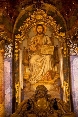 PRAGUE, CZECH REPUBLIC, 30 DECEMBER 2018. Interior in St. Nicholas Church in Prague, Czech Republic.