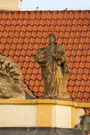 PRAGUE, CZECH REPUBLIC, 31 DECEMBER 2018. Statue decorating Loreta in Prague, Czech Republic. 報道画像