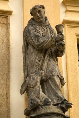 PRAGUE, CZECH REPUBLIC, 30 DECEMBER 2018. Statue at the entrance to Loreta in Prague, Czech Republic. 報道画像