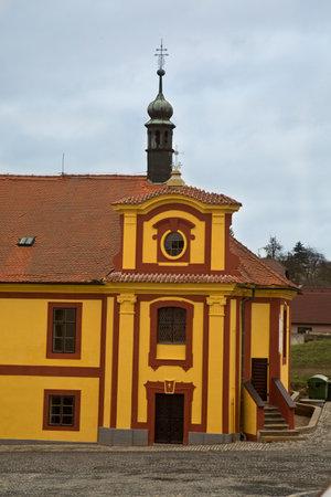 KRUSOVICE, CZECH REPUBLIC, 01 JANUARY 2019.  Historic building in the territory of the Brewery Krusovice, Czech Republic.
