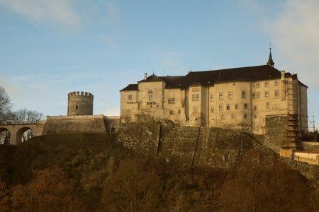 CZECH REPUBLIC, 31 DECEMBER 2018. View of the  Cesky Sternberk Castle, Czech Republic.