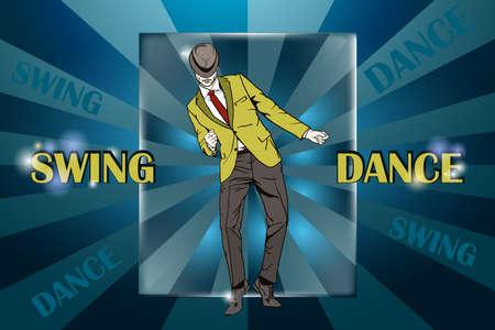 Dancing Guy dancing vector illustration Illustration