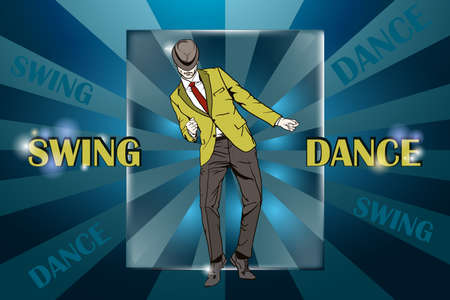 Dancing Guy dancing vector illustration Illustration