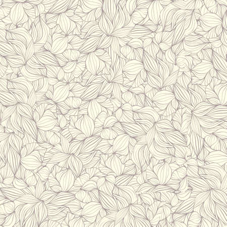 Retro background from a contour of leaves Illustration