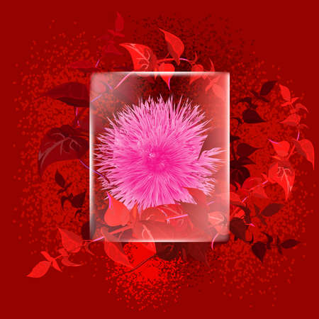 A Vector illustration of flower and plants under glass with abstract colorful vector background Illustration