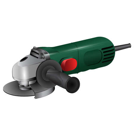 Angle grinder tools and accessories design illustration.