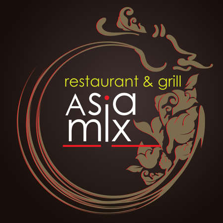 Abstract Creative concept vector Logo Design for restaurants and cafe Business Vector Illustration