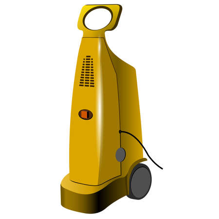 Pressure washer isolated over white background. Power washer. Tools and accessories. Vector illustration