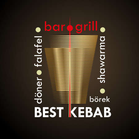 Turks eten. Abstract creatief concept vector Logo. Ontwerp voor restaurants en cafés. Bedrijfslogo. Vector illustratie