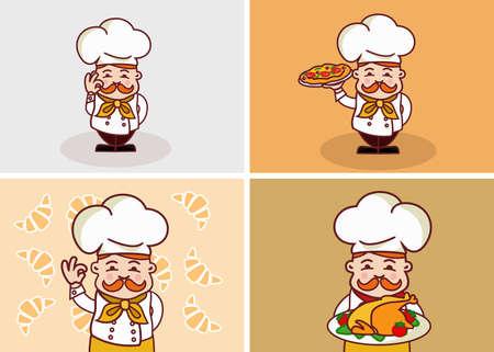 Ilustración divertida del cocinero