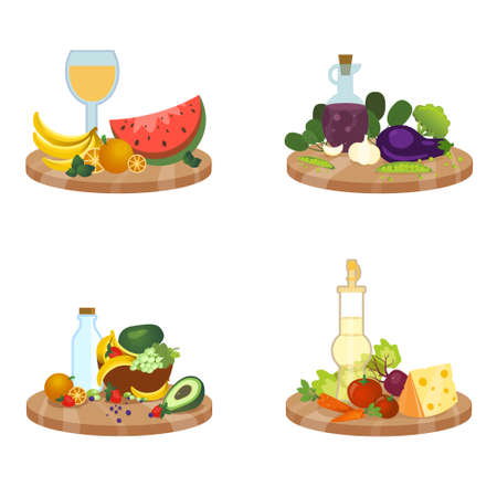 Vector set of dishes