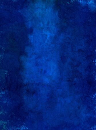 tonal: Painted Blue Art Paper with a lighter area in the center field. Many textural qualities from inclusions placed in the paper mold. Stock Photo