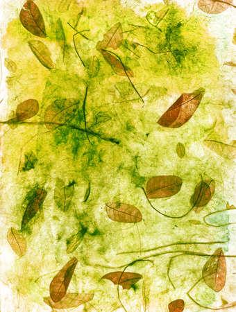 Bladeren in textuur.