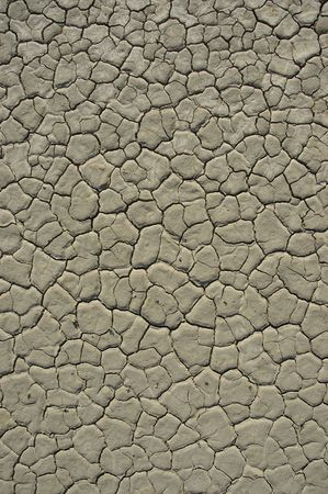 Almost white cracked earth. Dry lake bed in Death Valley National Park, USA. Stock Photo