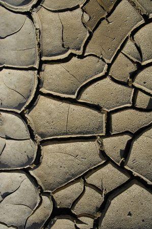 Grote geometrische gebarsten aarde patroon. Droge woestijn meer bed.