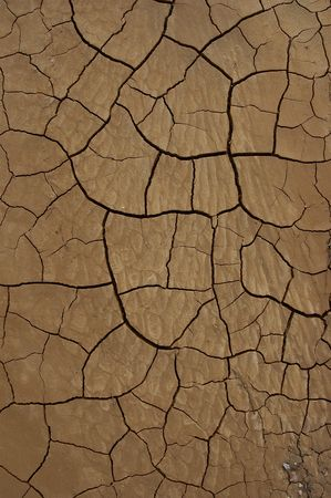 mojave desert: Geometrically descending cracked earth with lower image pebble accent.