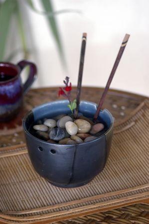 Metaforisch Stones en Water in een spa instelling